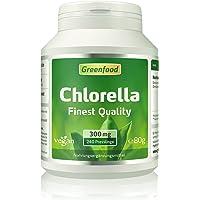 Chlorella, 300 mg, Finest Quality, 240 Presslinge – reich an Chlorophyll, wertvollen Vitaminen, Mineralien und Spurenelementen. Ohne künstliche Zusätze, vegan.