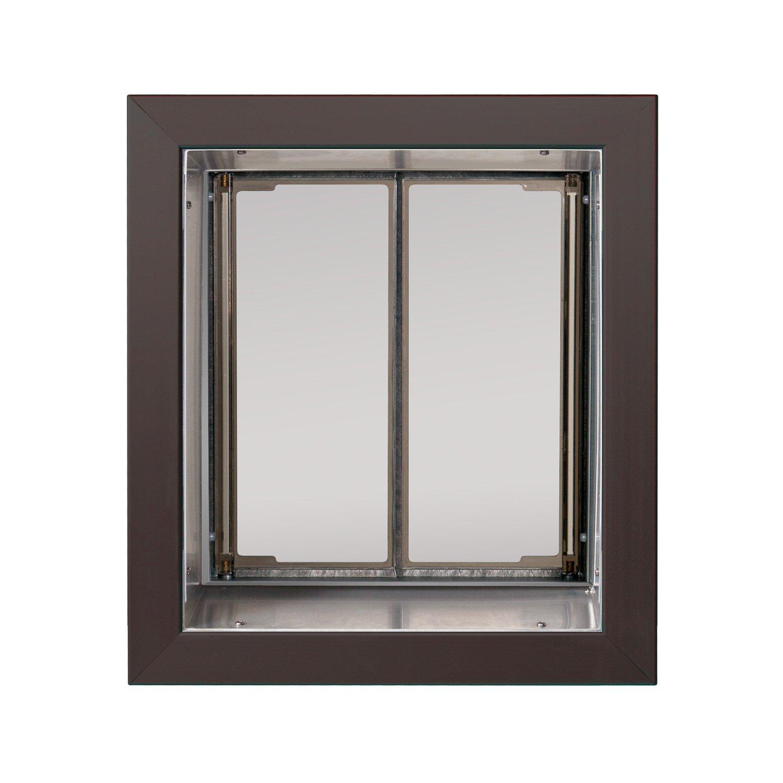 Amazon.com : PlexiDor Performance Pet Doors Medium Bronze Wall Mount :  Plexidor Medium Dog Door : Pet Supplies