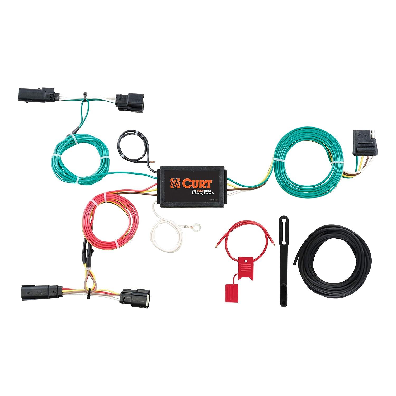 curt 56292 vehicle side custom 4 pin trailer wiring harness for select ford edge  ford edge trailer wiring harness #14