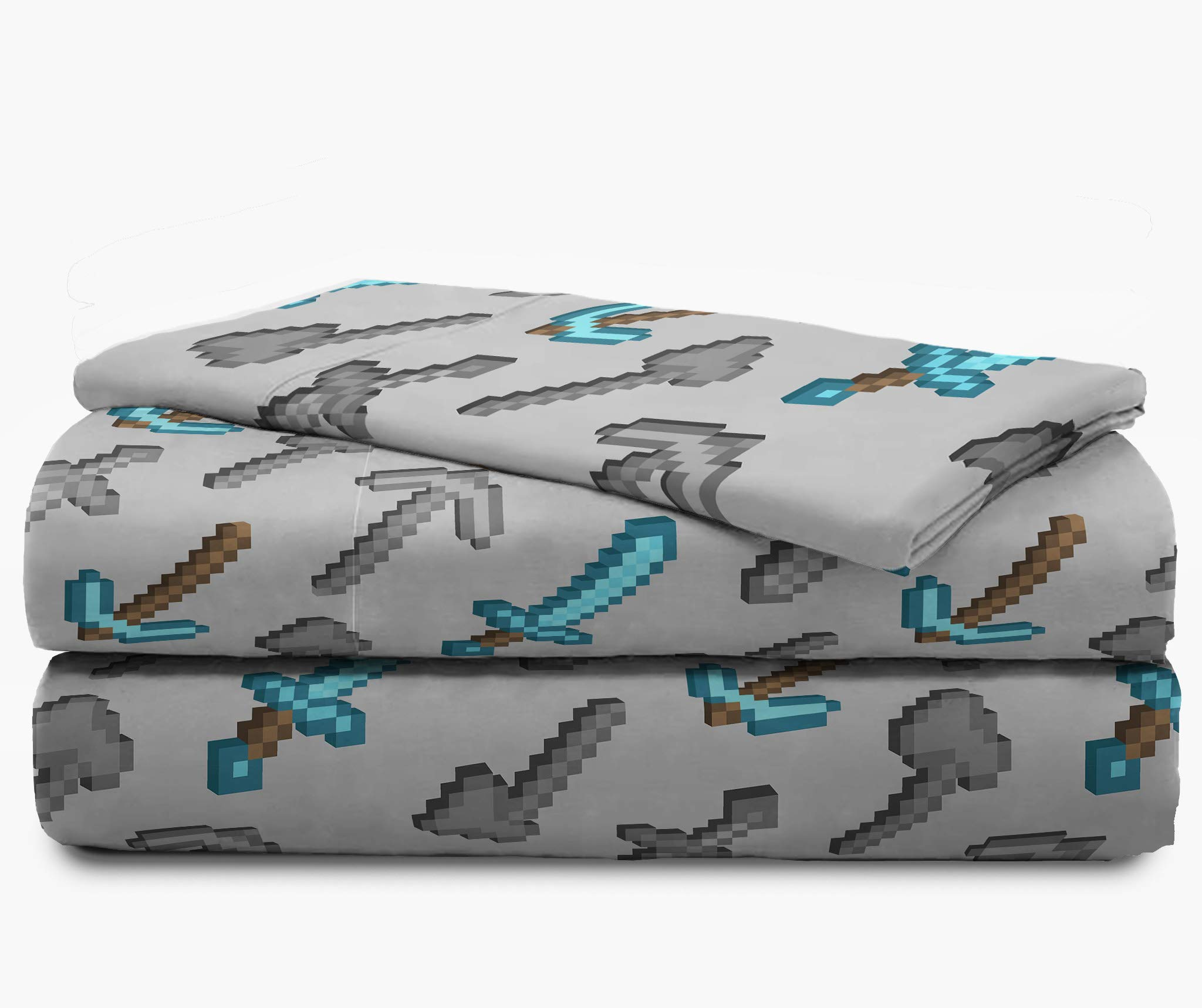 Jay Franco Minecraft Isometric 4 Piece Twin Bed Set - Includes Reversible Comforter & Sheet Set - Bedding Features Creeper - Super Soft Fade Resistant Polyester - (Official Minecraft Product) by Jay Franco (Image #5)