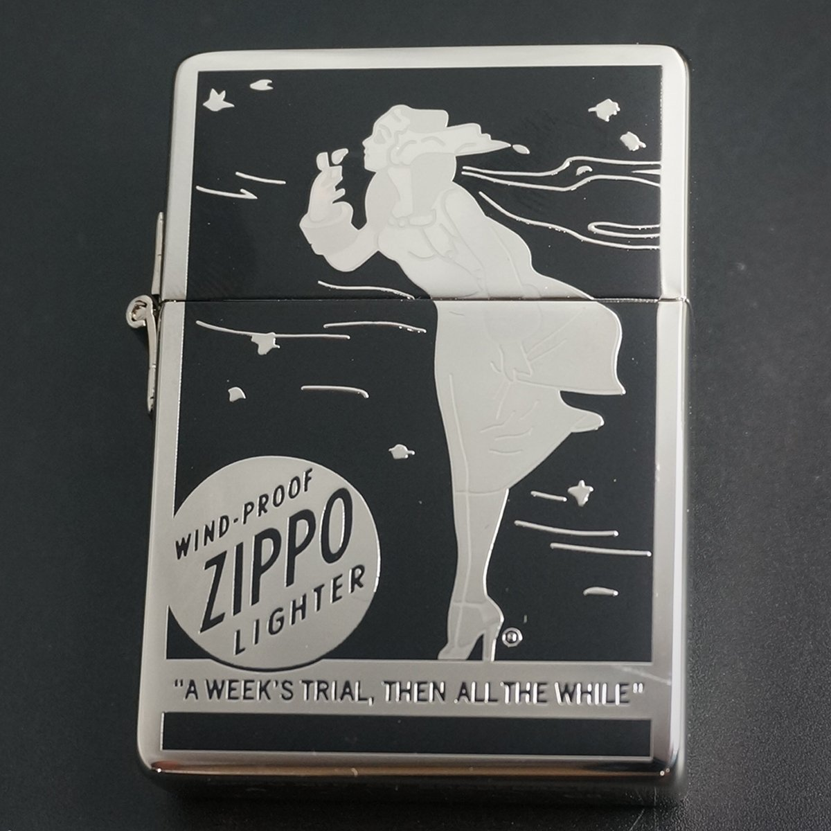 zippo WINDY 1935レプリカ シルバーメッキ 2008年製造 B0762LRJHC