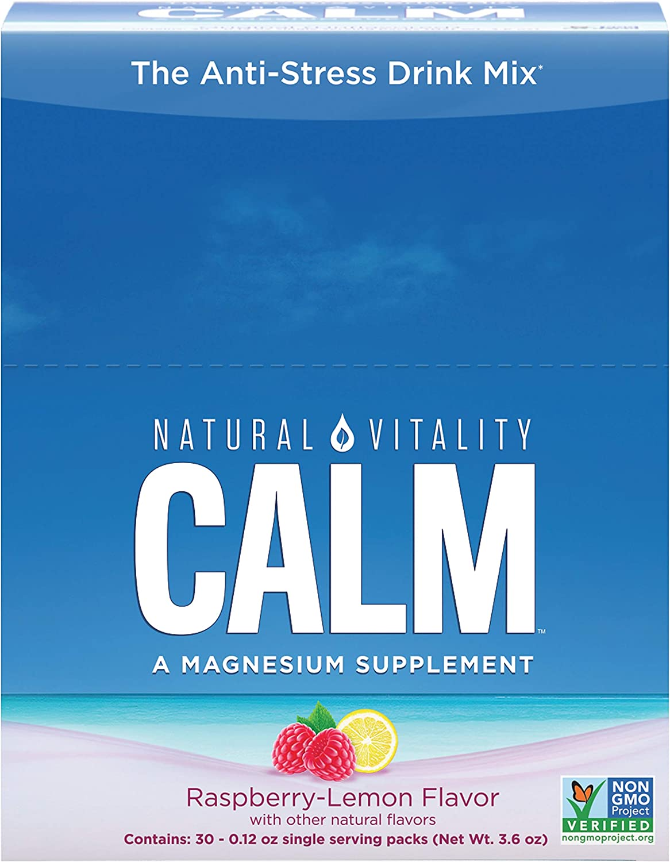 Natural Vitality Natural Calm Packs, Raspberry-Lemon - 30 X 3.3G ...