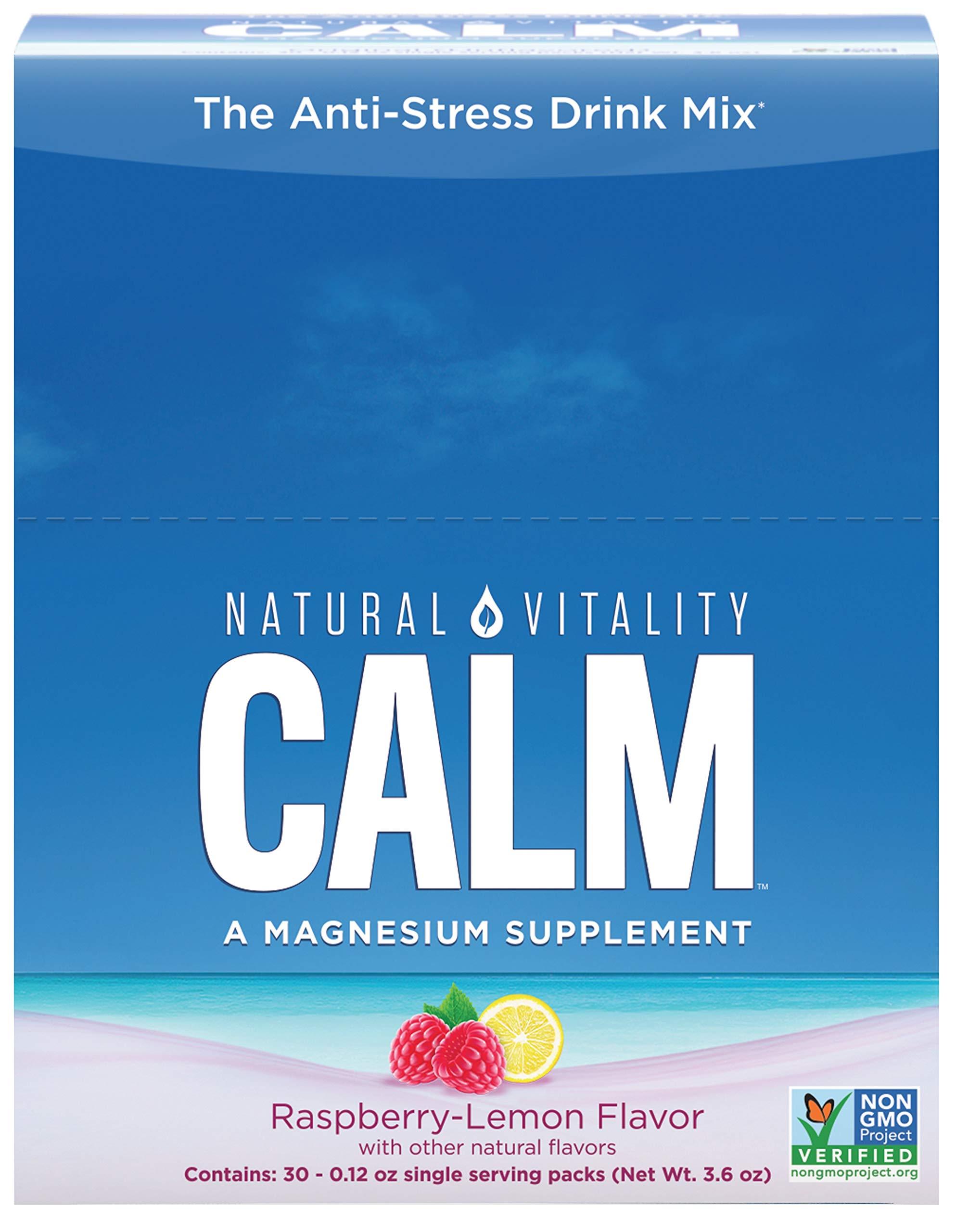 Natural Vitality Natural Calm Anti Stress Drink 30 count Raspberry Lemon flavor