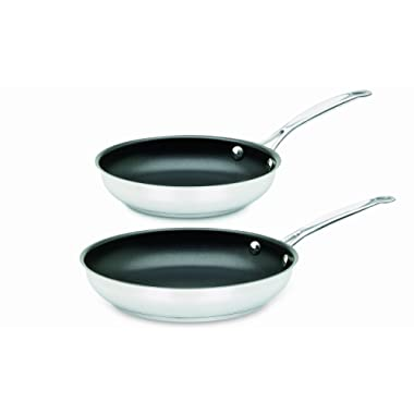Cuisinart 722-911NS Chef's Classic Stainless Nonstick 2-Piece 9-Inch and 11-Inch Skillet Set