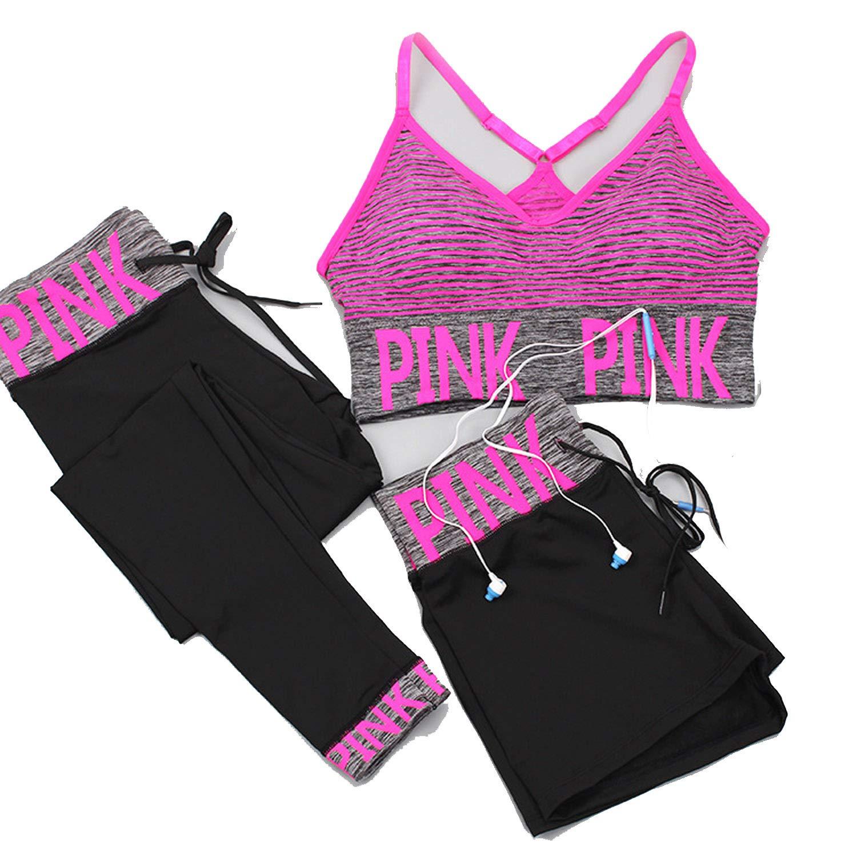 Women Yoga Sets Sports Bra+Yoga Pants+Shorts Fitness Clothing Sportswear Women Sports Wear Women Gym Clothing