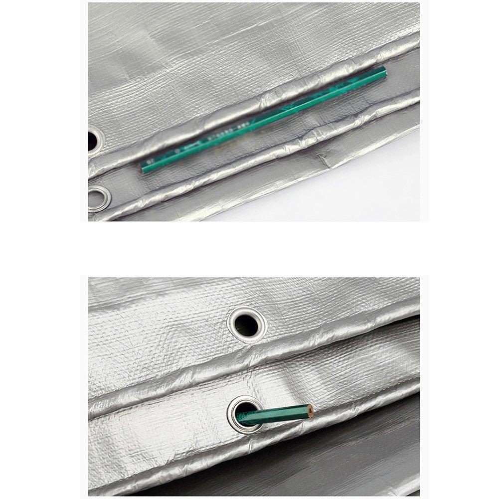 JIANFEI B/âche De Protection Efficace Imperm/éable Isolation Thermique Camion Poly/éthyl/ène 180G // M2 /Épaisseur 0.35 MM Couleur : Silver+Army Green, taille : 3m /× 3m 21 Tailles Facultatives