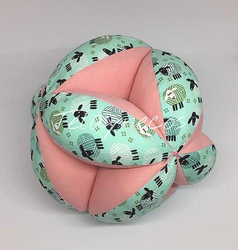 Pelota Montessori ovejas rosa 20cm: Amazon.es: Handmade