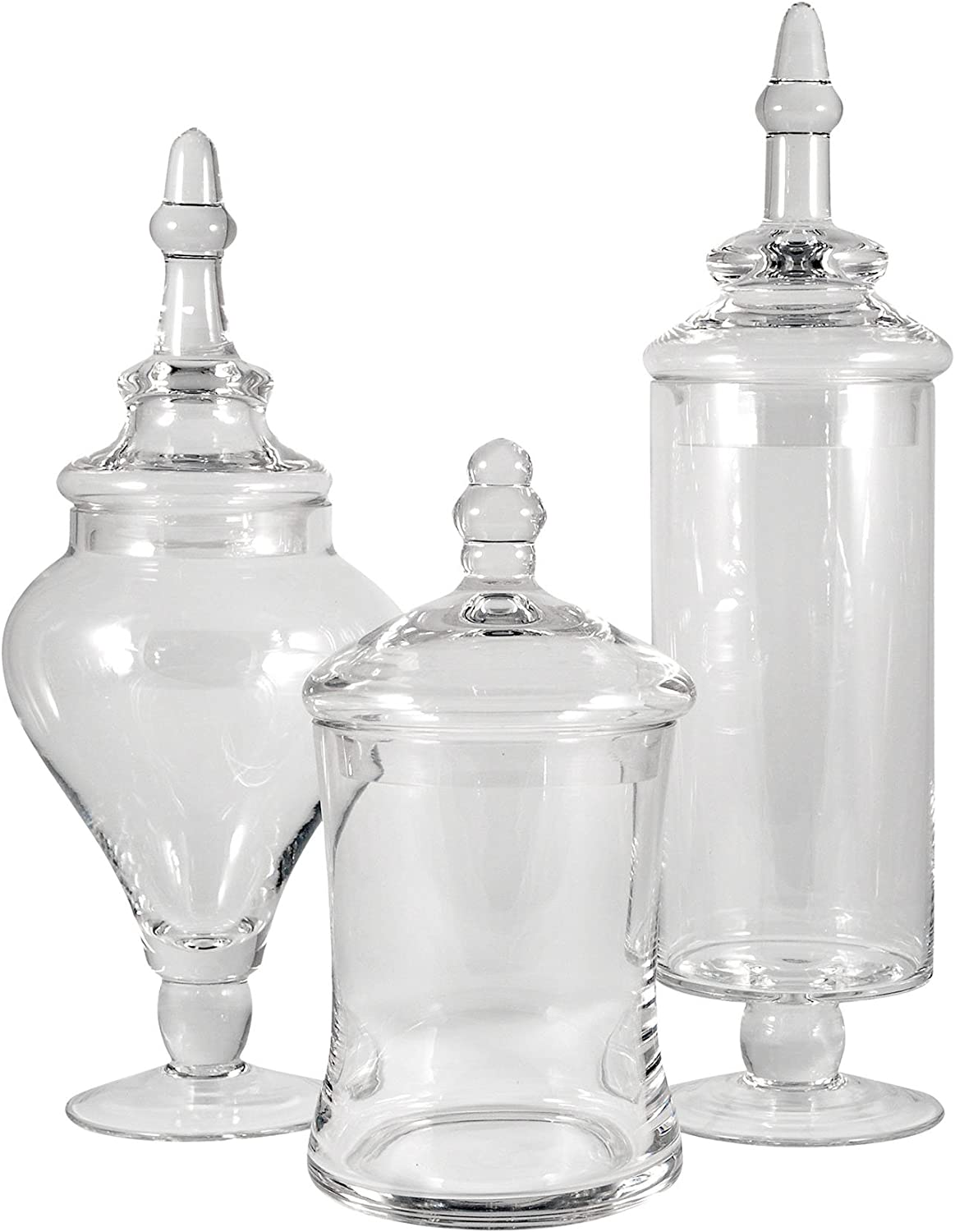 Amazon Com San Miguel Set Of 3 Aris Apothecary Jars Home Kitchen