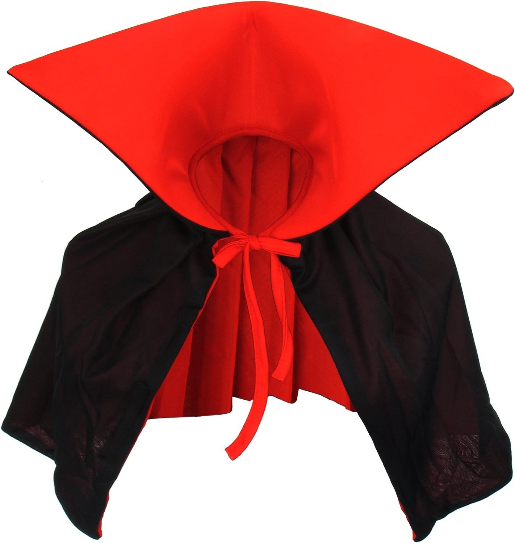 Vampiro Cuello Capa Manto Negro Rojo Dracula Mini