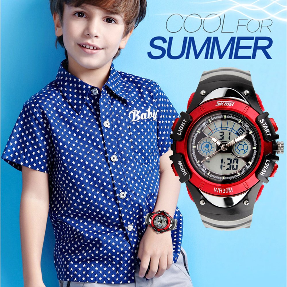 fd1f85bd3611 amstt Unisex Deportes Niños Relojes Niño Niña digital impermeable alarma  reloj de pulsera para el Edad 7 - 15 Años Niños  Amazon.es  Relojes