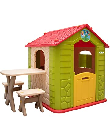 ffe731b84f3e LittleTom childrens Playhouse incl 1 table 2 benches for boys and girls  small plastic House for