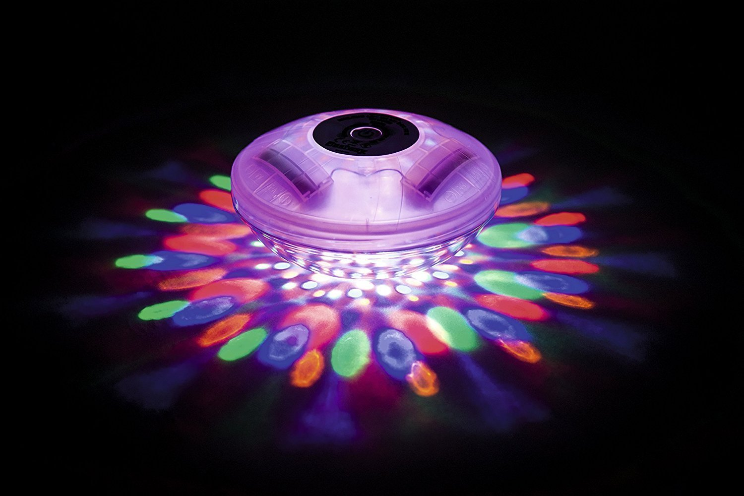 GLOW Flowclear Lay-Z-Spa Hot Tub & Swimming Pool LED Floating Light – Beautiful and Bright Colour Changing Battery Operated Water Light with 4 Colours and 7 Flashing Modes – Simple to Use - No Wiring Required - IP68 100% Waterpoof – 1hr Auto Safety Sh