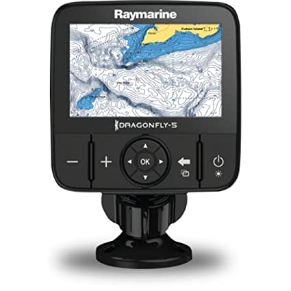 Amazoncom Raymarine Dragonfly 5m Sonargps With Us C Map - Us-c-map-essentials