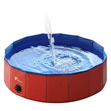 Pidsen Hundepool Swimmingpool PVC tragbare Faltbare Hunde Katzen Bad Wanne  Badewanne Waschbad Haustier Schwimmbad Wasser Teich