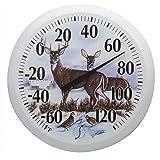 Springfield Outdoor Thermometer, 13.25-Inch, Winter Deer
