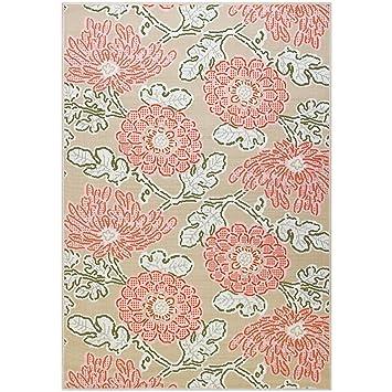 HONGHAI Teppich Teppich Puder Blumen Teppich Wohnzimmer Schlafzimmer Decke