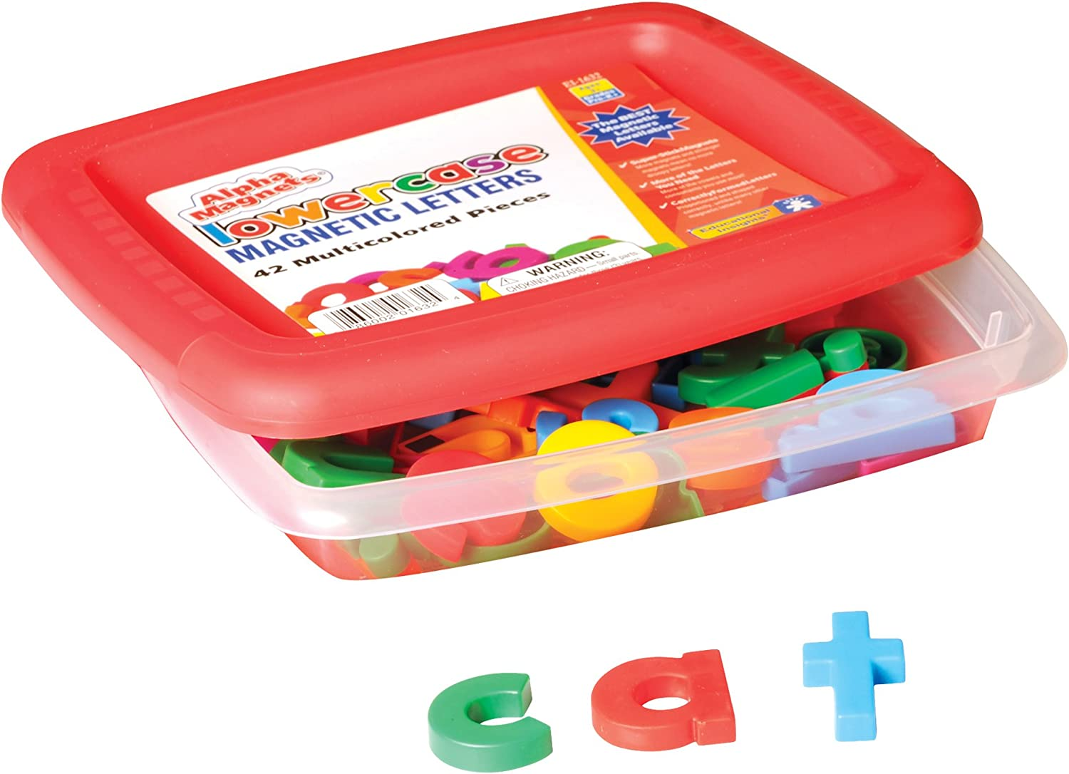 Educational Insights Multicolored Lowercase AlphaMagnets, Set of 42 Lowercase Letters: Perfect for Homeschool & Classroom, Ages 3+