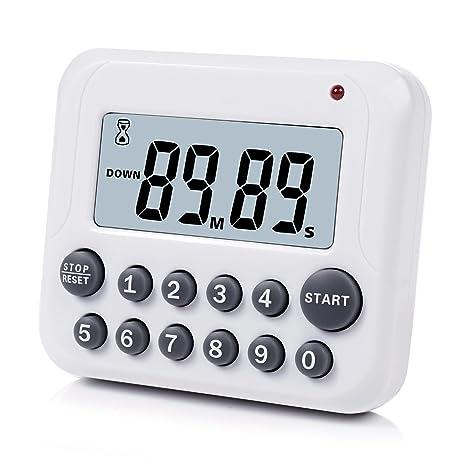 Temporizador de Cocina Digital Cuenta Regresiva Magnética para Arriba Reloj de Temporizador de Cocina con Imán