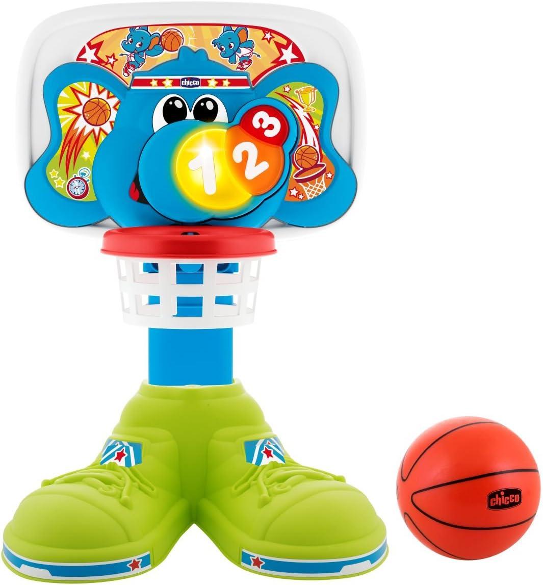 Chicco Fit&Fun Basket League, Canestro elettronico, Altezza regolabile fino a 58 cm, 18 mesi 5 anni