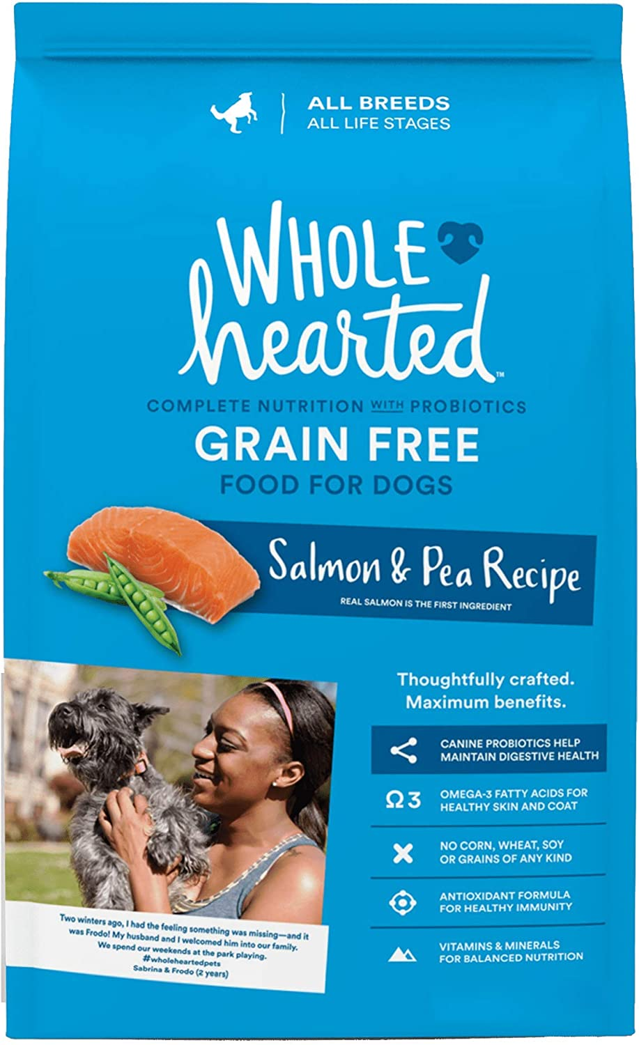 Petco Brand - WholeHearted Grain Free All Life Stages Salmon and Pea Recipe Dry Dog Food, 14 lbs.