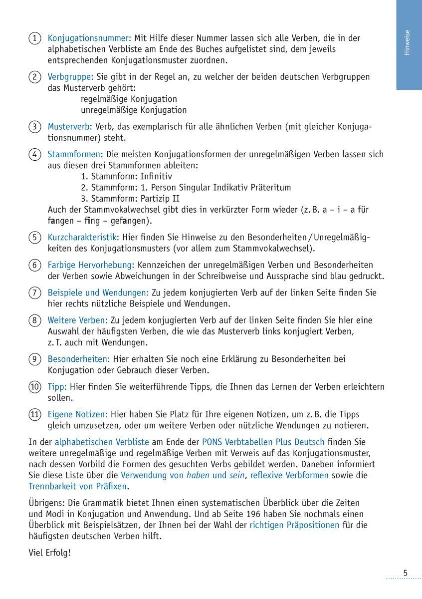 Pons verbtabellen deutsch 9783125613546 amazon books fandeluxe Image collections