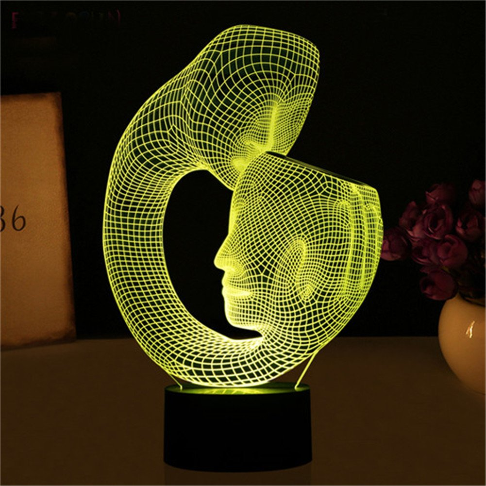 3d Lamp Abstract Art Home Decor Gift Bedroom Night Touch 7