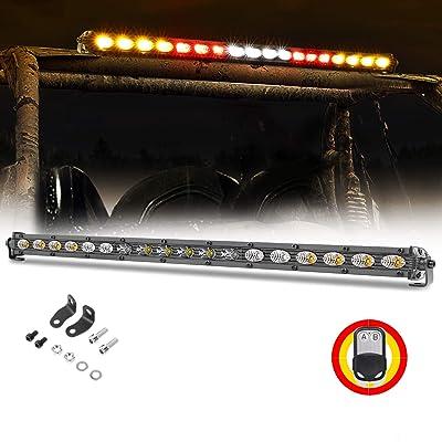 Chase Light Bar, Nirider 20 Inch Rear Light Bar Offroad Slim Strobe LED Light Bar w/Turn Signal Brake Light for UTV RZR Polaris 4x4 Truck Jeep Dune Buggy ATV Off Road - Red Amber White: Automotive