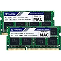 Timetec Hynix IC 16GB KIT(2x8GB) Compatible for Apple DDR3 1067MHz / 1066MHz PC3-8500 RAM for MacBook (Mid 2010 13-inch…