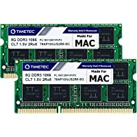 Timetec Hynix IC 16GB KIT(2x8GB) Compatible for Apple DDR3 PC3-8500 1067MHz/1066MHz Upgrade for MacBook 13'' Mid 2010…