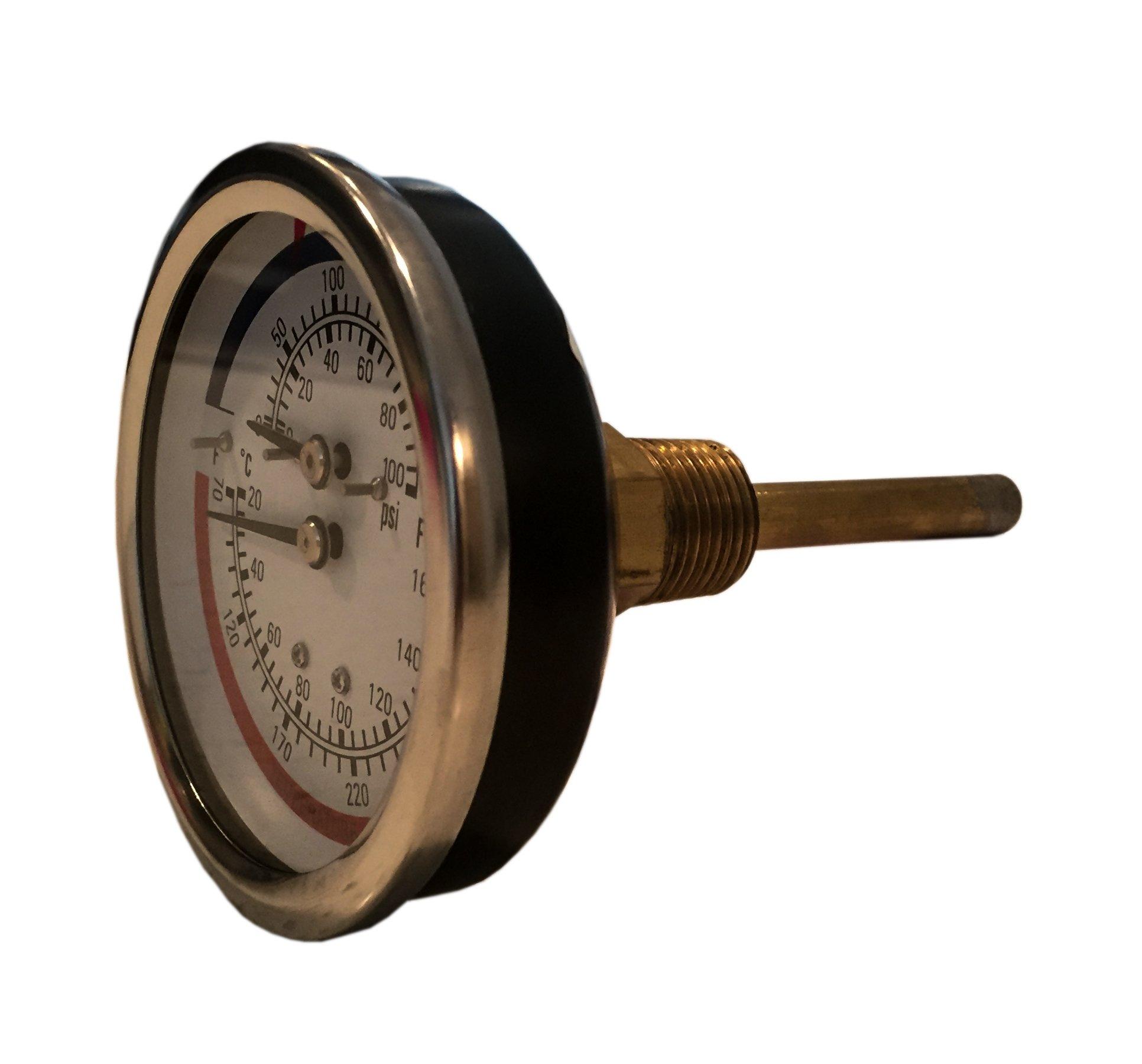 CNSG 3.25'' Dial Dual Scale Tridicator - 3'' Stem