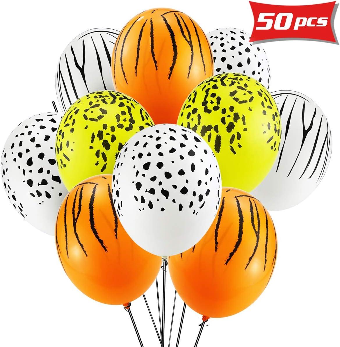 Faxco - Globos de látex biodegradables con diseño de leopardo y ...