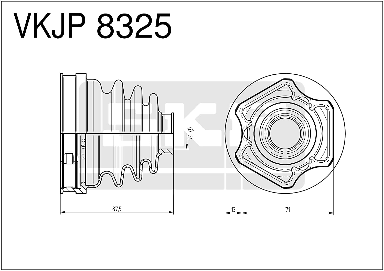 SKF VKJP 8325 Faltenbalgsatz Antriebswelle