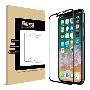 the best attitude 57d7e 178e8 Mothca iPhone X Screen Protector, [3D Full Coverage] [Crystal Clear ...