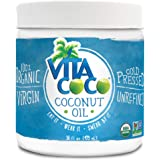 Vita Coco Organic Virgin Coconut Oil, 16 Oz - Non GMO Cold Pressed Gluten Free Unrefined Oil - Used For Cooking Oil - Great for Skin Moisturizer or Hair Shampoo - BPA Free Plastic Jar