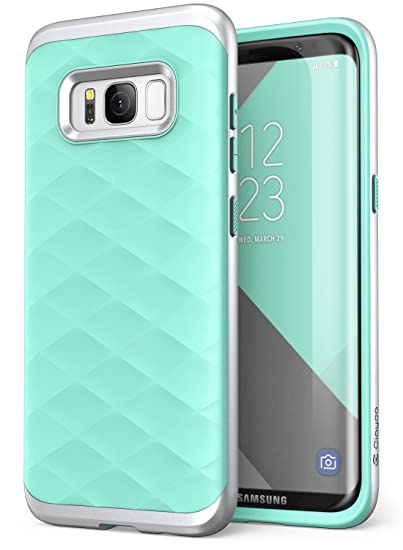 finest selection 64644 5a18d Galaxy S8 Case, Clayco [Helios Series] Premium Hybrid Protective Case for  Samsung Galaxy S8 (Green/Silver)