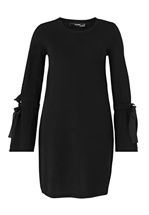 b6f4953df2 Hallhuber Knitted Dress with Flounce Sleeves L