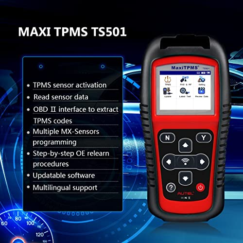 Autel TS501 TPMS Programmer Tool has some a bit more professional than the TS408