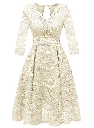 de7cf10377487 KELUOSI Robe de Bal Femme Robe de Demoiselle d'honneur Femme Midi-Longues en