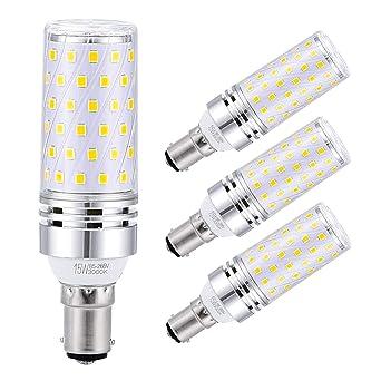 Sagel B15 LED Bombillas de Maíz 15W, 120W Bombillas Incandescentes Equivalente, 3000K Blanco Cálido