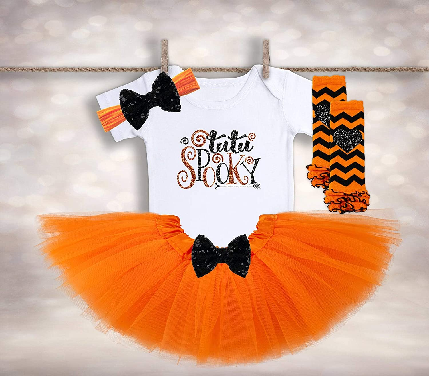 Halloween BOO Dainty Hair Bow Headband Fits Preemie to Toddler