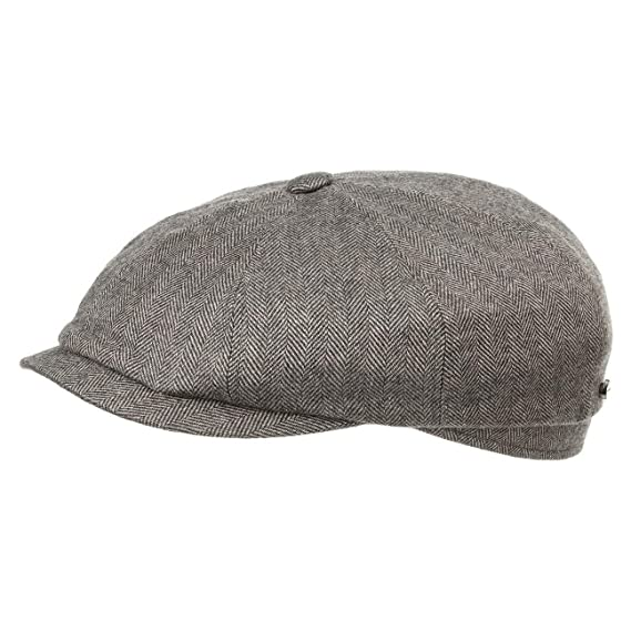 cd27f7ae4e Stetson Hatteras Cashmere Silk Flat Cap Men | Made in Germany Pull on hat  Virgin Wool with Peak, Lining, Lining Summer-Winter