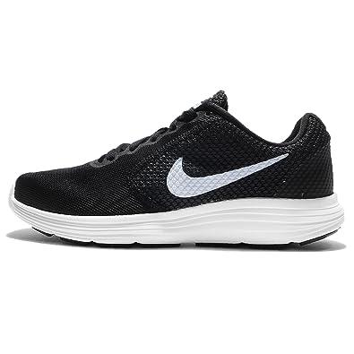 NIKE Women's Revolution 3 Running Shoe, Black/Aluminum/Anthracite/White, 12