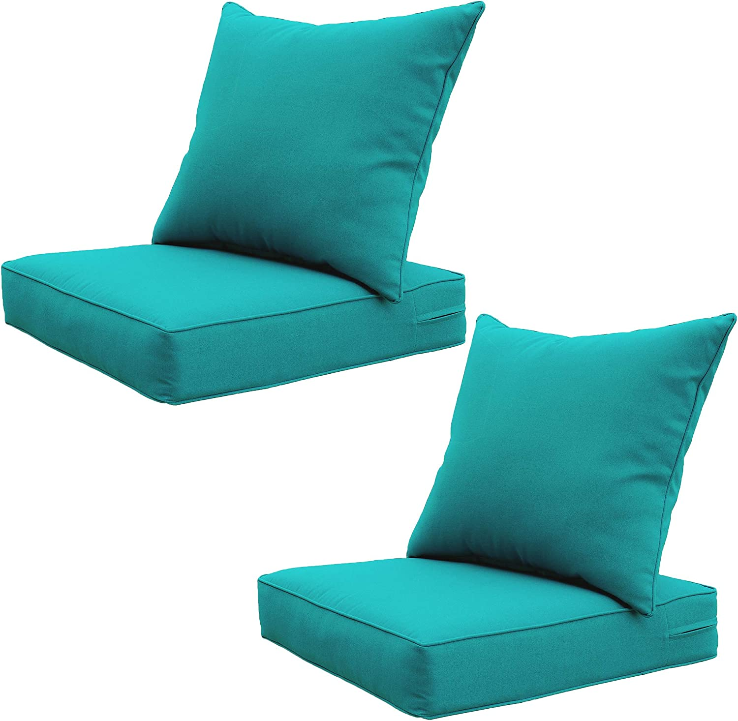 SewKer Indoor/Outdoor Patio Deep Seat Cushion Set Two Set-Green Used