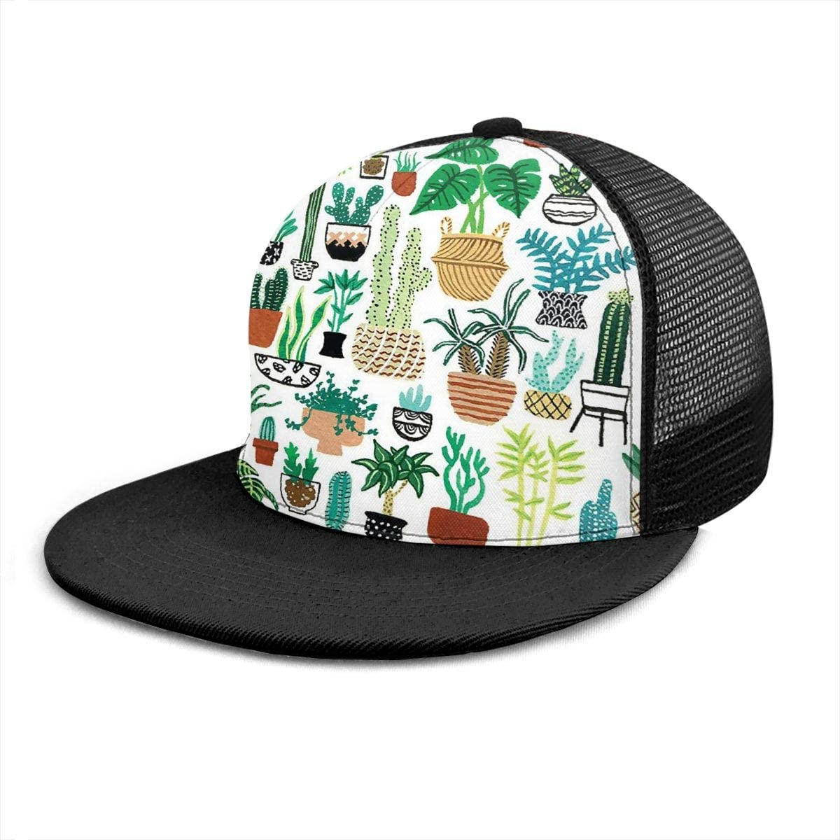 Ry71@Cap Unisex 100/% Polyester Potted Plants Mesh Hat Cool Snapback Hat for Unisex