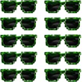 Pixels Make Perfect 8-Bit Pixelated Sunglasses Birthday Party Favors, Set of 10 Pairs