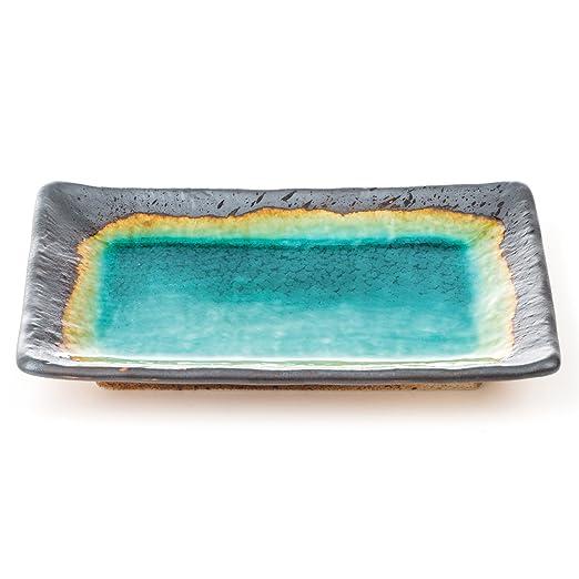 The Japanese Shop - Bandeja decorativa vidriada japonesa, color ...