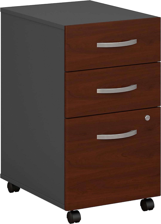 Bush Business Furniture Series C 3 Drawer Mobile File Cabinet in Hansen Cherry: Furniture & Decor