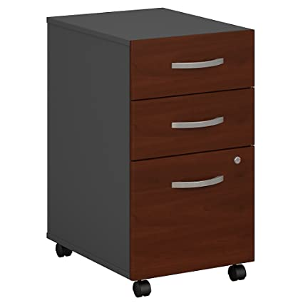 Bush Business Furniture Series C 3 Drawer Mobile File Cabinet In Hansen  Cherry