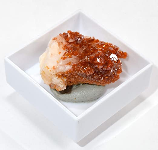 HQRP 80 CT Naranja vanadinita Mineral en Caja Brillante Coleccionable Gemstone Cristal geoda Cluster especímenes de Marruecos: Amazon.es: Hogar