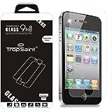 Trop Saint ® Film Protecteur d'écran pour iPhone 4 / 4S en Verre Trempé 0,4mm Transparente Ultra-Clair Haute Qualité Ultra Résistant INRAYABLE Tempered Glass